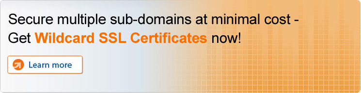 Secure multiple hostnames at minimal cost - Get Wildcard SSL Certificates now!