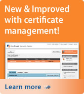 New & Improved with certificate management. Learn more.
