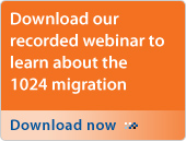 Download our recorded webinar to learn about the 1024 migration. Download now.